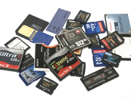 Pile of Memory Cards