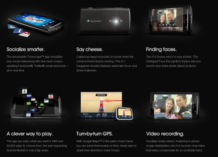 Sony X10 US Launch
